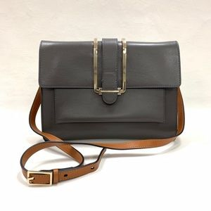 Chloe Grey Clutch with Strap Bag Authentic